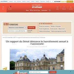 Un rapport du Sénat dénonce le harcèlement sexuel à l'université