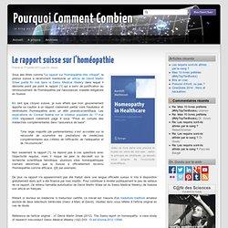 Le rapport suisse sur l'homéopathie