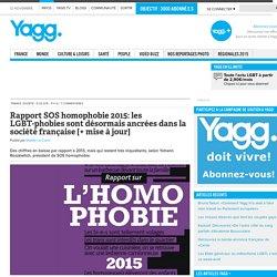 Rapport SOS homophobie 2015: les LGBT-phobies sont désormais ancrées dans la société française [+ mise à jour]
