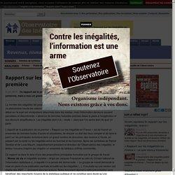 Rapport sur les inégalités en France: une première