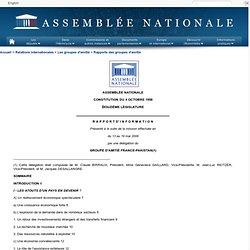 Rapport d'information du groupe d'amitié France-Pakistan (mission de mai 2006)