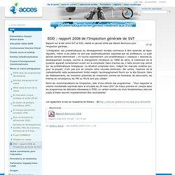 EDD : rapport 2008 de l'Inspection générale de SVT — Portal