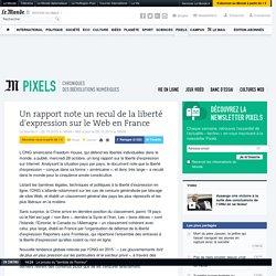 Un rapport note un recul de la liberté d'expression sur le Web en France