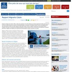 Rapport Migrants Calais