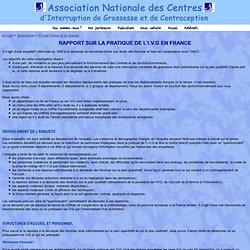 Rapport sur la pratique de l'I.V.G. en France