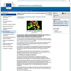 Rapport2011 de Rapex, le système d'alerte sur les produits dangereux