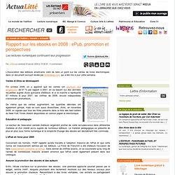 Rapport sur les ebooks en 2008 : ePub, promotion et perspectives