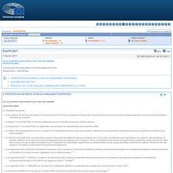 PARLEMENT EUROPEEN 01/02/17 Rapport sur la propriété responsable et les soins des équidés (2016/2078 (INI))