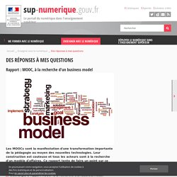 Rapport : MOOC, à la recherche d'un business model