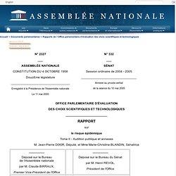 Tome II - Audition publique et annexes