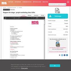 Rapport de stage : projet marketing chez Célio