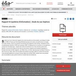Rapport SI (système d'information) : étude du cas Sephora