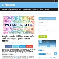 Google rapporterait 10 fois plus de trafic aux e-commerçants que les réseaux sociaux !