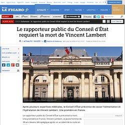 Le rapporteur public du Conseil d'État requiert la mort de Vincent Lambert