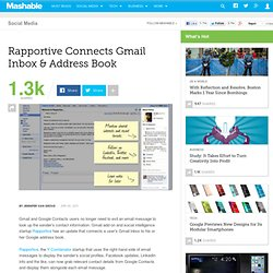 Rapportive Connects Gmail Inbox & Address Book