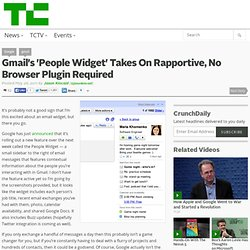 Gmail's 'People Widget' Takes On Rapportive, No Browser Plugin Required