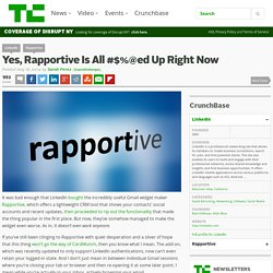 Yes, Rapportive Is All #$%@ed Up Right Now
