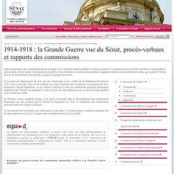 PV & Rapports Commissions 14/18 Sénat