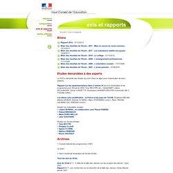 Avis et rapports - Haut Conseil de l'Éducation