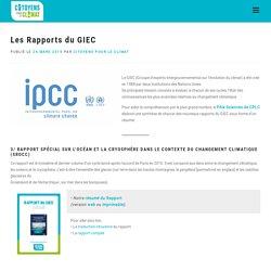 Les Rapports du GIEC – Citoyens pour le climat