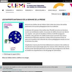 Les rapports nationaux de la Semaine de la presse- CLEMI