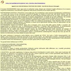 www.ilCORTO.it - I Corti AV - STILI DI RAPPRESENTAZIONE NEL CINEMA POSTMODERNO
