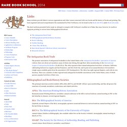 Rare Book School: Links