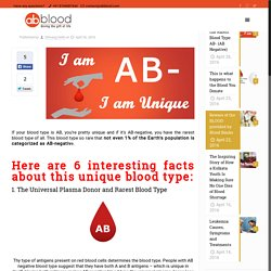 6 Facts about the Rarest Blood Type: AB- (AB Negative) - AbbloodAbblood