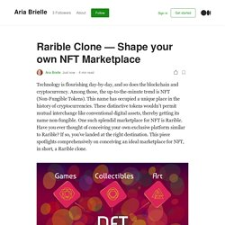 Rarible Clone — Shape your own NFT Marketplace
