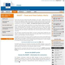 EUROPE 26/08/16 RASFF Annual Report 2015.