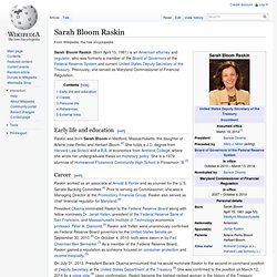 Sarah Bloom Raskin