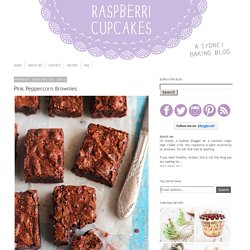 Pink Peppercorn Brownies