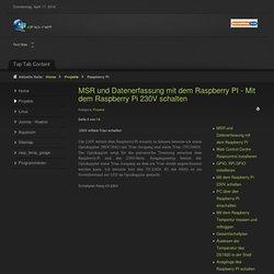 Mit dem Raspberry Pi 230V schalten - Seite 4
