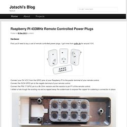 Raspberry PI 433MHz Remote Controlled Power Plugs