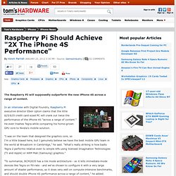 "Raspberry Pi Should Achieve ""2X The iPhone 4S Performance"""