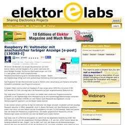 Raspberry Pi: Voltmeter mit anschaulicher farbiger Anzeige [e-post][130383-I]