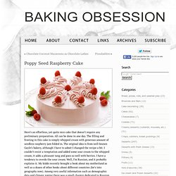 Poppy Seed Raspberry Cake