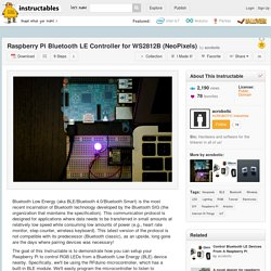 Raspberry Pi Bluetooth LE Controller for WS2812B (NeoPixels) - All