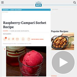 Raspberry-Campari Sorbet Recipe