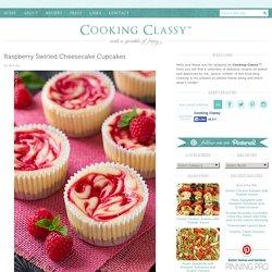 Raspberry Swirled Cheesecake Cupcakes