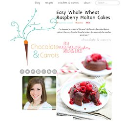 Easy Whole Wheat Raspberry Molton Cakes