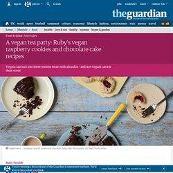 Ruby's vegan raspberry cookies and chocolate cake recipes