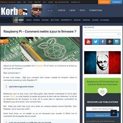 Raspberry Pi - Comment mettre à jour le firmware ? « Korben Korben