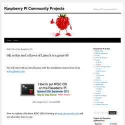 Raspberry PI Community Projects