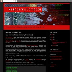 Raspberry Compote: Low-level Graphics on Raspberry Pi (part one)