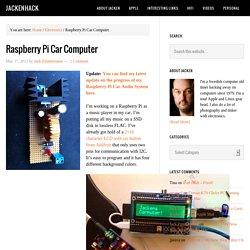 Raspberry Pi Car Computer - JackenHack