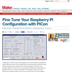 Fine Tune Your Raspberry Pi Configuration with PiCon