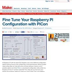 Fine Tune Your Raspberry Pi Configuration with PiCon
