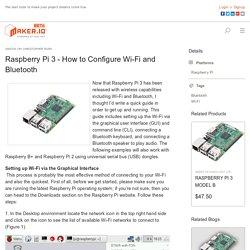 Raspberry Pi 3 - How to Configure Wi-Fi and Bluetooth