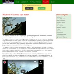 Raspberry Connect - Raspberry Pi Camera slow motion